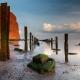 Strand van noordzeeeiland Helgoland